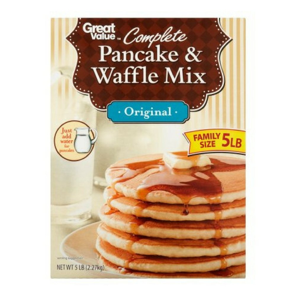 Great Value Complete Original Pancake & Waffle Mix Family Size, 5 lb by Great Value
