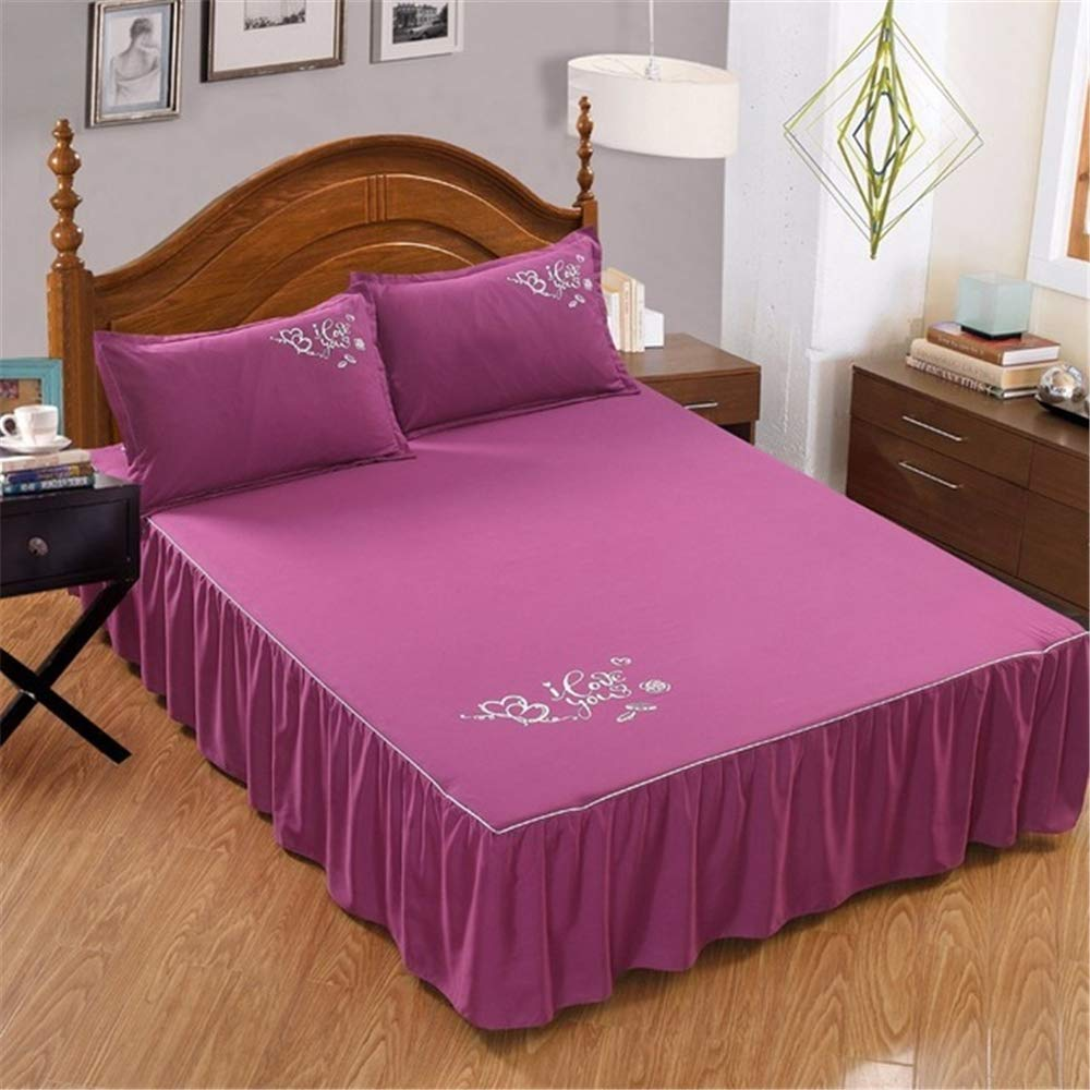 FENGDONG Luxury Bed Fabric Solid Quilted QuiltComforter Solid Color Coverlet by FENGDONG