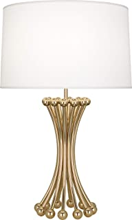 product image for Robert Abbey 475 Jonathan Adler Biarritz - One Light Table Lamp, Polished Brass Finish with Ascot White Fabric Shade