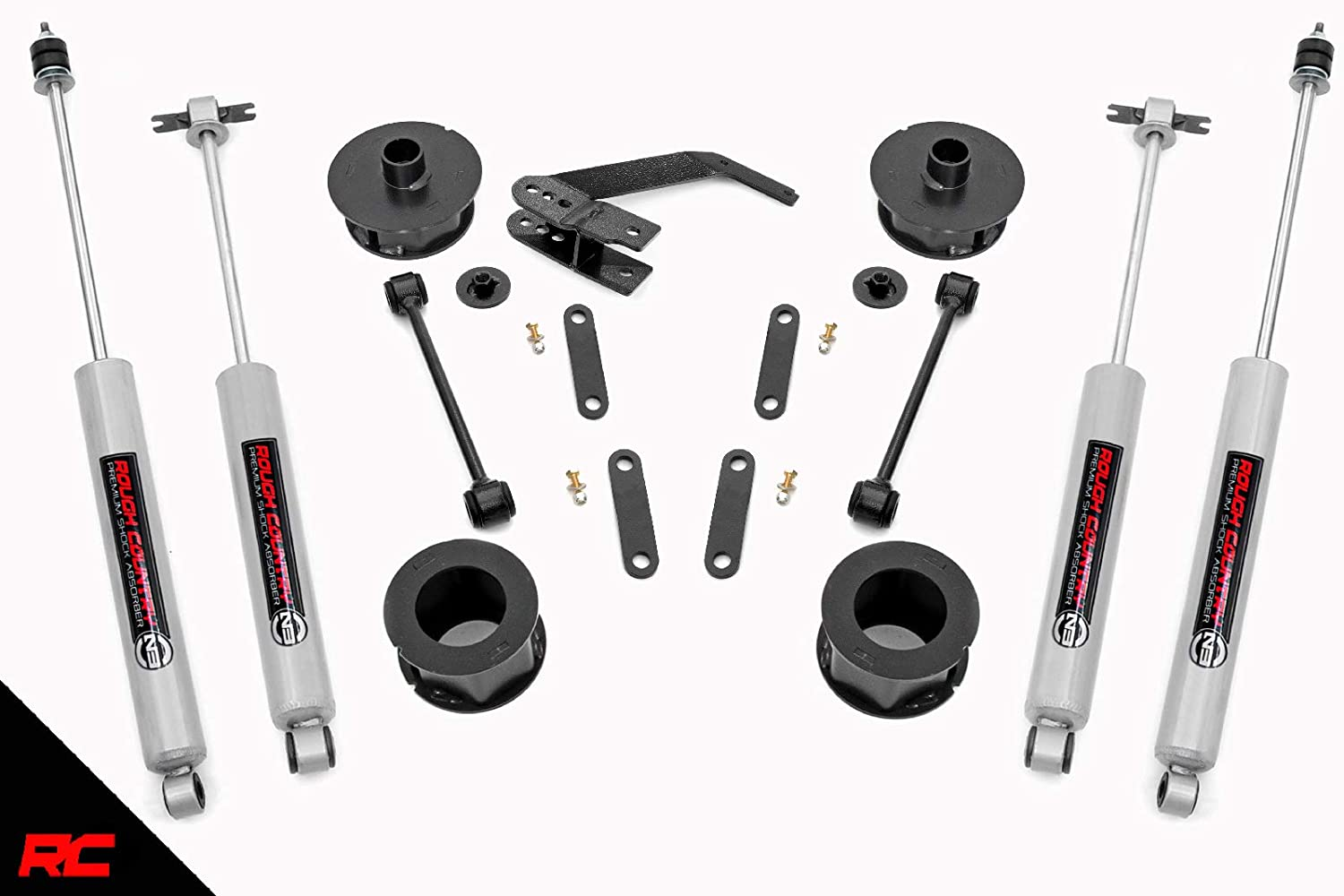 Rough Country 65730 Lift Kit Series II//N3 Shocks 2.5 w fits 2007-2018 Jeep Wrangler JK