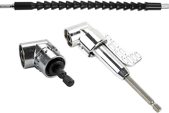 "Right Angle Extension Driver Drill Shank 1//4/"" Hex Drill Bit Socket Holder GL"