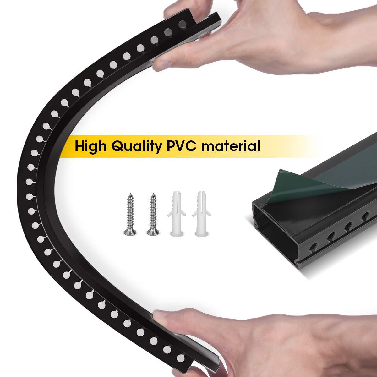 Stageek Kabelkanal selbstklebend 39x4x2cm PVC 3.5 M L/änge TV Kabelkanal Installationskanal Wand und Decken Montage allzweck f/ür aller Art von Kabel innen Haus B/üro Schwarz 9x39cm Kabelkanal