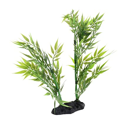 Homyl Planta de Plástico Reptil Terrario Accesoiros de Acuario Decorativo Resistente Duradero - Estilo 4