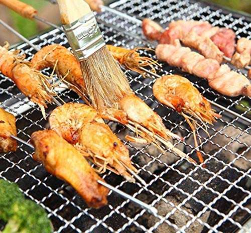 YDHWT Pique-Nique Barbecue Charbon Grils for Barbecue Amp, Sliver randonnée en Plein air en Acier Inoxydable Charbon Camping Grill