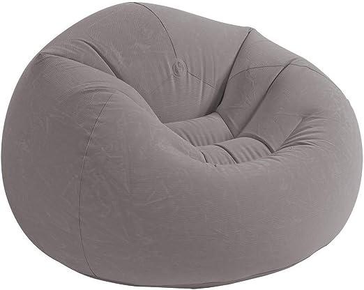 Intex 68579NP - Sillón hinchable beanless 107 x 104 x 69 cm gris