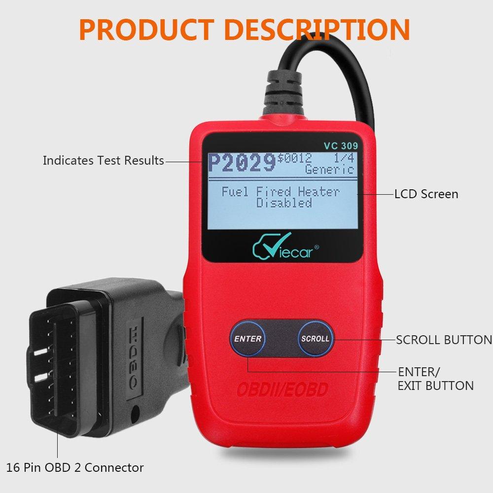 Gemwon OBD2 Wifi Adapter Auto Diagnose Scanner Code Reader Check Engine f/ür Android und IOS Elm327 W-lan OBDII Scanner W-lan-Black