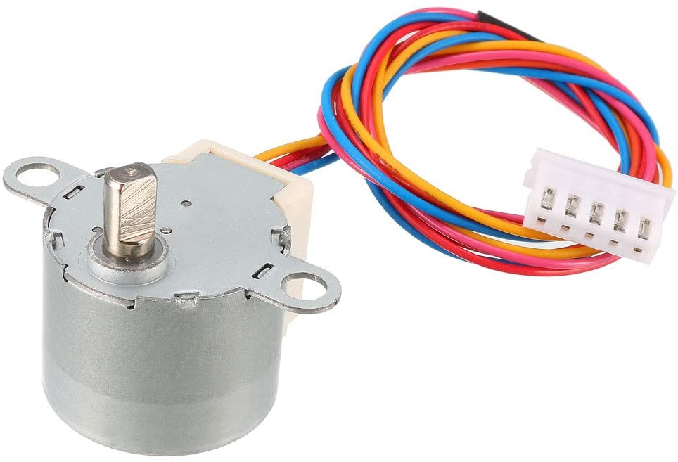 uxcell 24BYJ48 DC 12V Reduction Stepper Motor Micro Reducer Stepping Motor 4-Phase 5-Wire - -