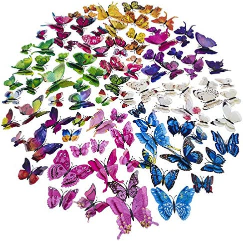 Colorful Butterfly Stickers Removable Classroom