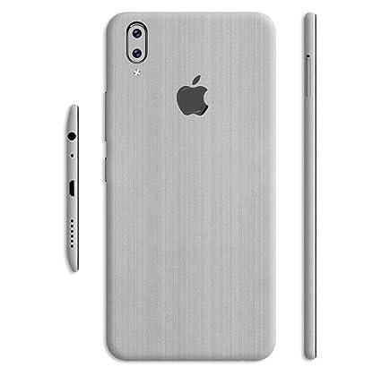 best service d0ad9 4861a Crystal Skin Silver Titanium Back & Side Skin/Sticker - WRAP Matte High  Strenght Stylish New Skin for Vivo V9 Converter Apple Logo (Only Sticker  Not ...