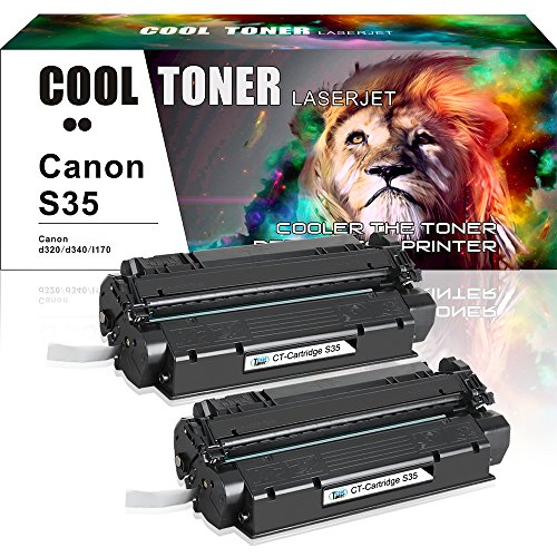 Imageclass D320 D340 Pc (Cool Toner 2 Pack Compatible for Canon S35 S-35 Cartridge 7833A001AA Black Toner Cartridge for Canon ImageClass D300 D320 D340; FAXPHONE L170; ImageClass MF3240; PC-D320 D340 Printer)