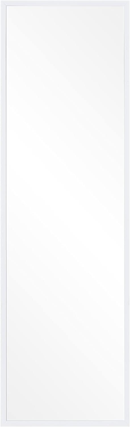 "Patton Wall Decor Free Standing Floor Mirror with Adjustable Easel, 17"" x 59"", White (1801-6102)"