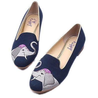 C. Wonder Time - Mocasines de Otra Piel para Mujer Azul Azul Marino, Color Azul, Talla 37: Amazon.es: Zapatos y complementos