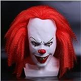 コスプレ ハロウィン 文化祭 パーティーグッズ ピエロマスク ジョーカー仮面 道化役者 (レッド)