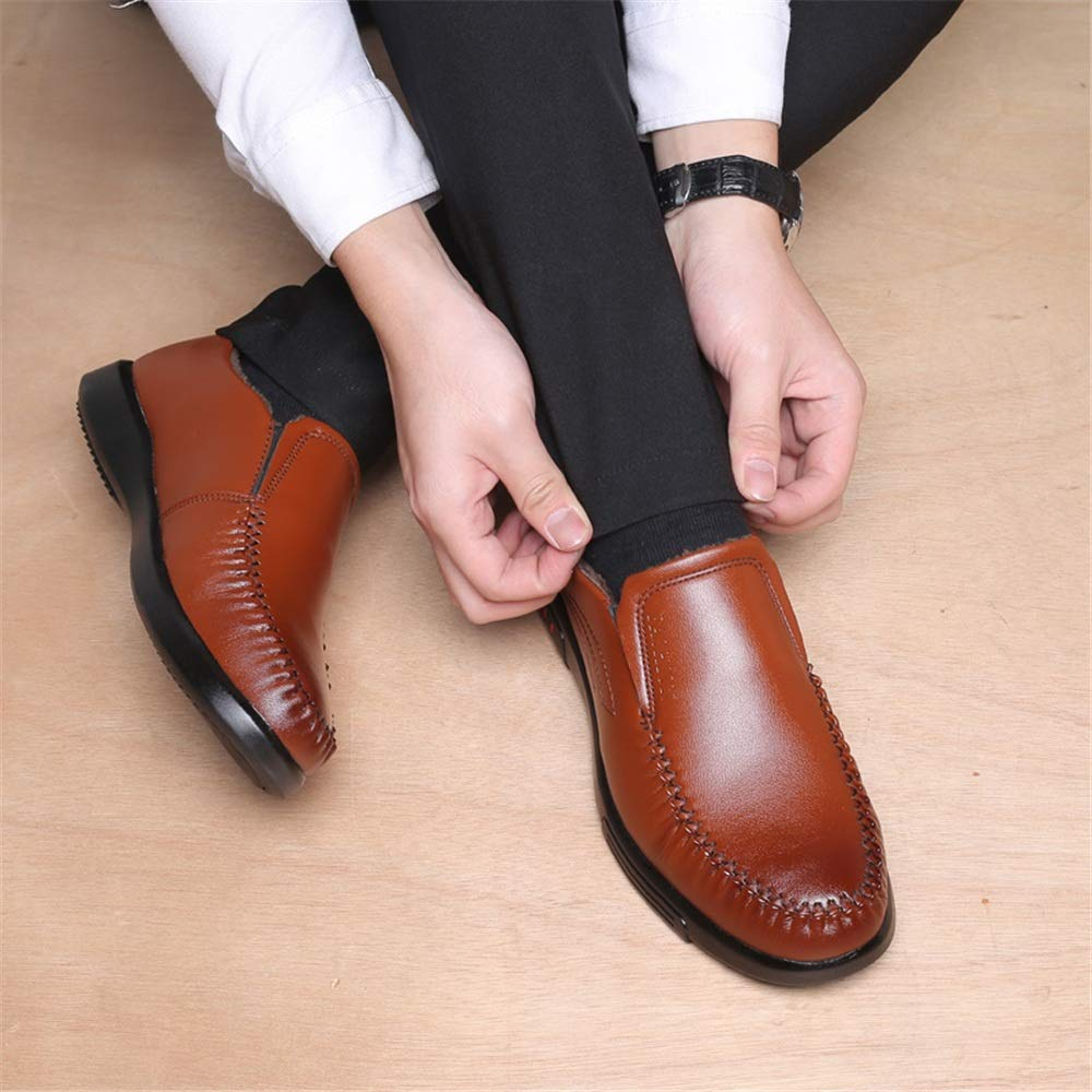 MXL Mens Fashion Oxford Casual Ande Comfortable Round Toe Winter Faux Fleece Inside Formal Shoes