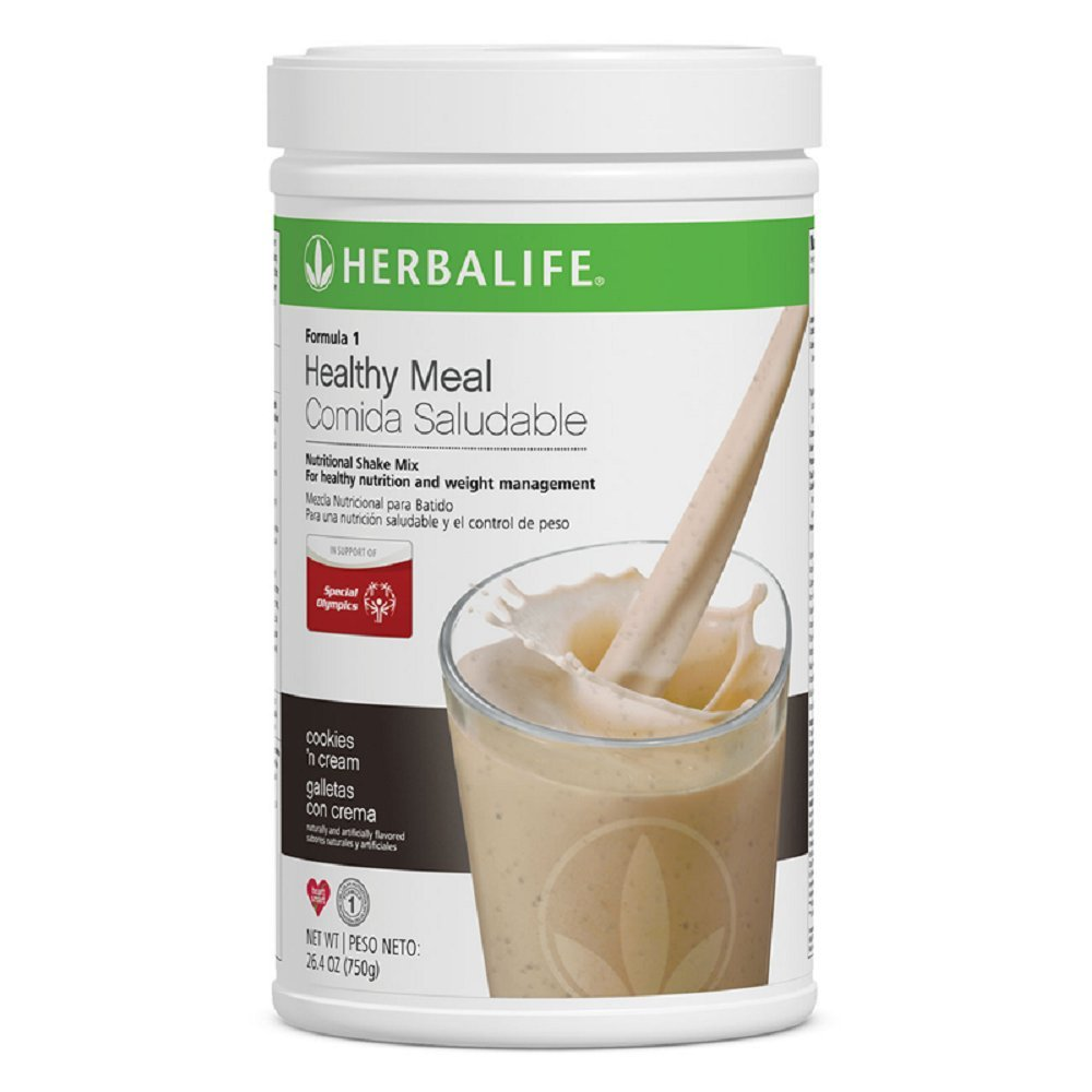 Herbalife Formula 1 Healthy Meal Nutritional Shake Mix (10 Flavor) (Cookies 'n Cream) by Herbalife