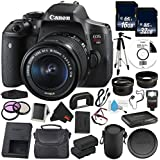 6Ave Canon EOS Rebel T6i DSLR Camera with EF-S 18-55mm f/3.5-5.6 IS STM Lens 0591C003 Deluxe Bundle - International Version (No Warranty)