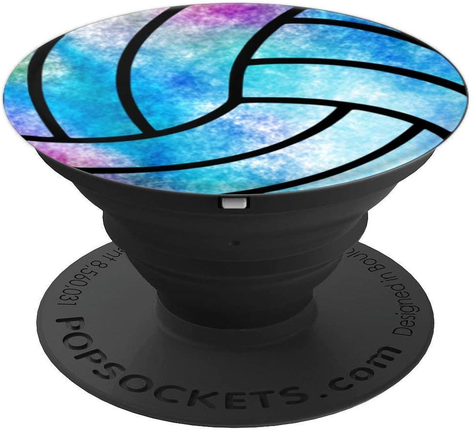 Amazon Com Volleyball Outline Blue Watercolor Look Pastel Design Player Popsockets Grip And Stand For Phones And Tablets