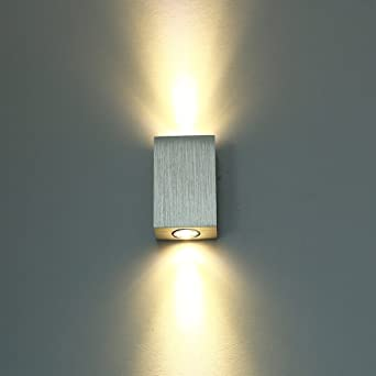 Lámpara LED de pared (para interior pared Proyección Piso Escaleras Leuchten plafón Up Down Efecto 6 W (Blanco Cálido): Amazon.es: Iluminación