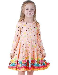 c52759ee21ff Girls Dress Sleeveless Long Sleeve Toddler Little Big Girl Unicorn Mermaid  Kids Casual Dresses