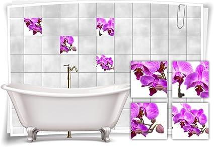 Fliesenaufkleber Fliesenbild Blumen Orchidee SPA Wellness Aufkleber Deko Bad
