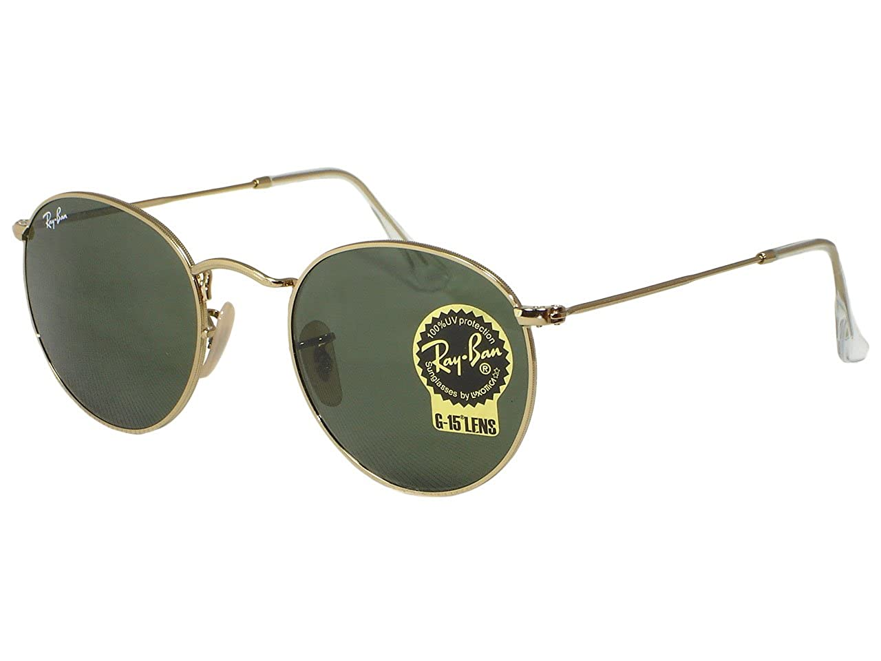 e18f6a890fc Amazon.com  Ray Ban RB3447 Round Metal 001 Gold Sunglasses 50mm  Clothing