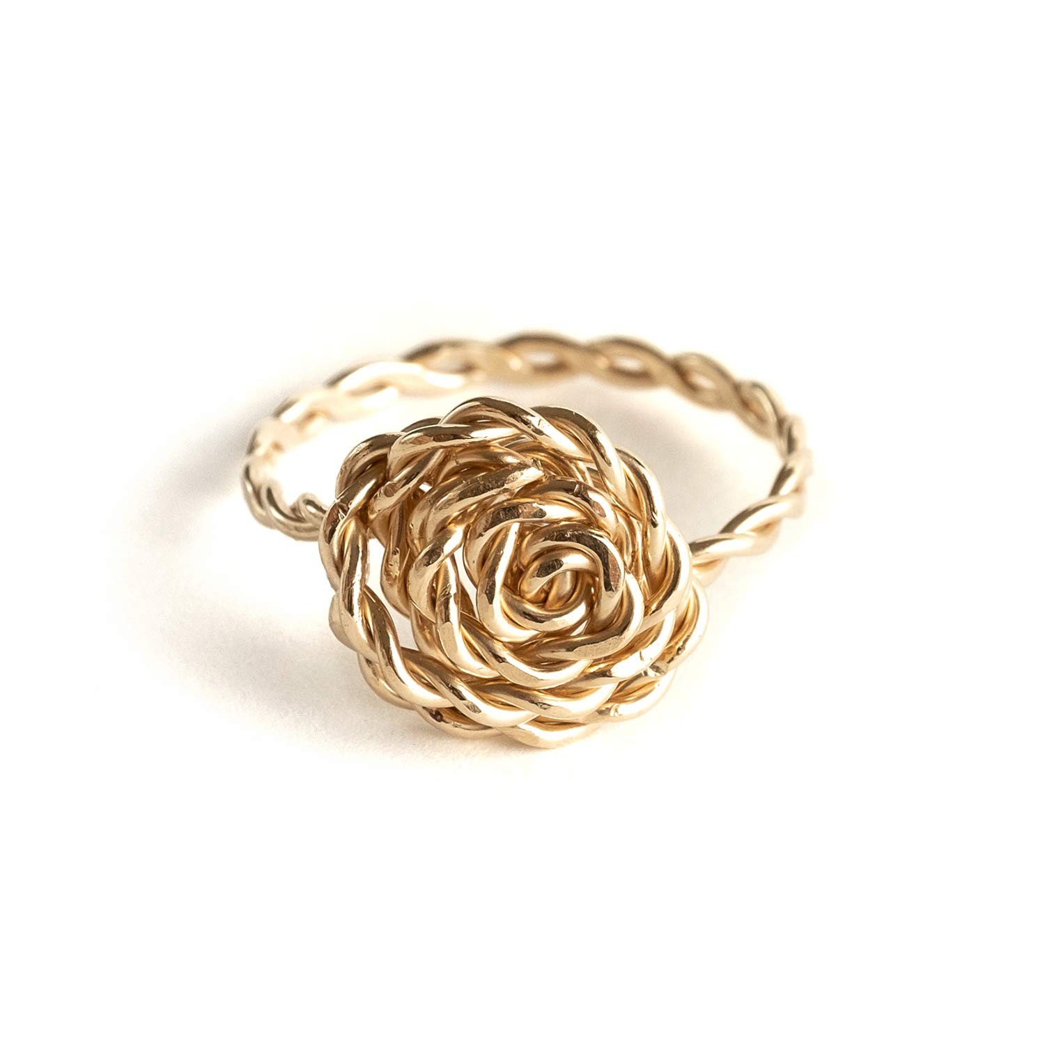 14k Rose Gold Filled Sterling Silver Wire Wrapped Gemstone Ring Gemstone Jewelry,Bohemian,Hippie 14k Gold Filled
