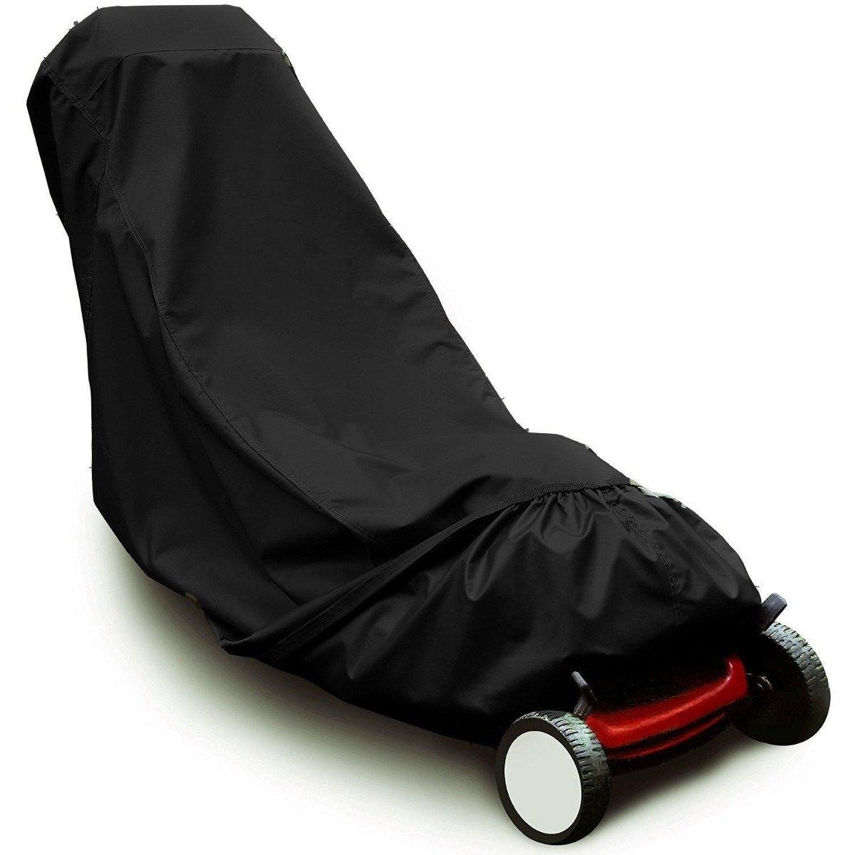 Ddanke tondeuse à gazon Coque étanche UV Housse de protection pour tondeuse à pousser (Noir)