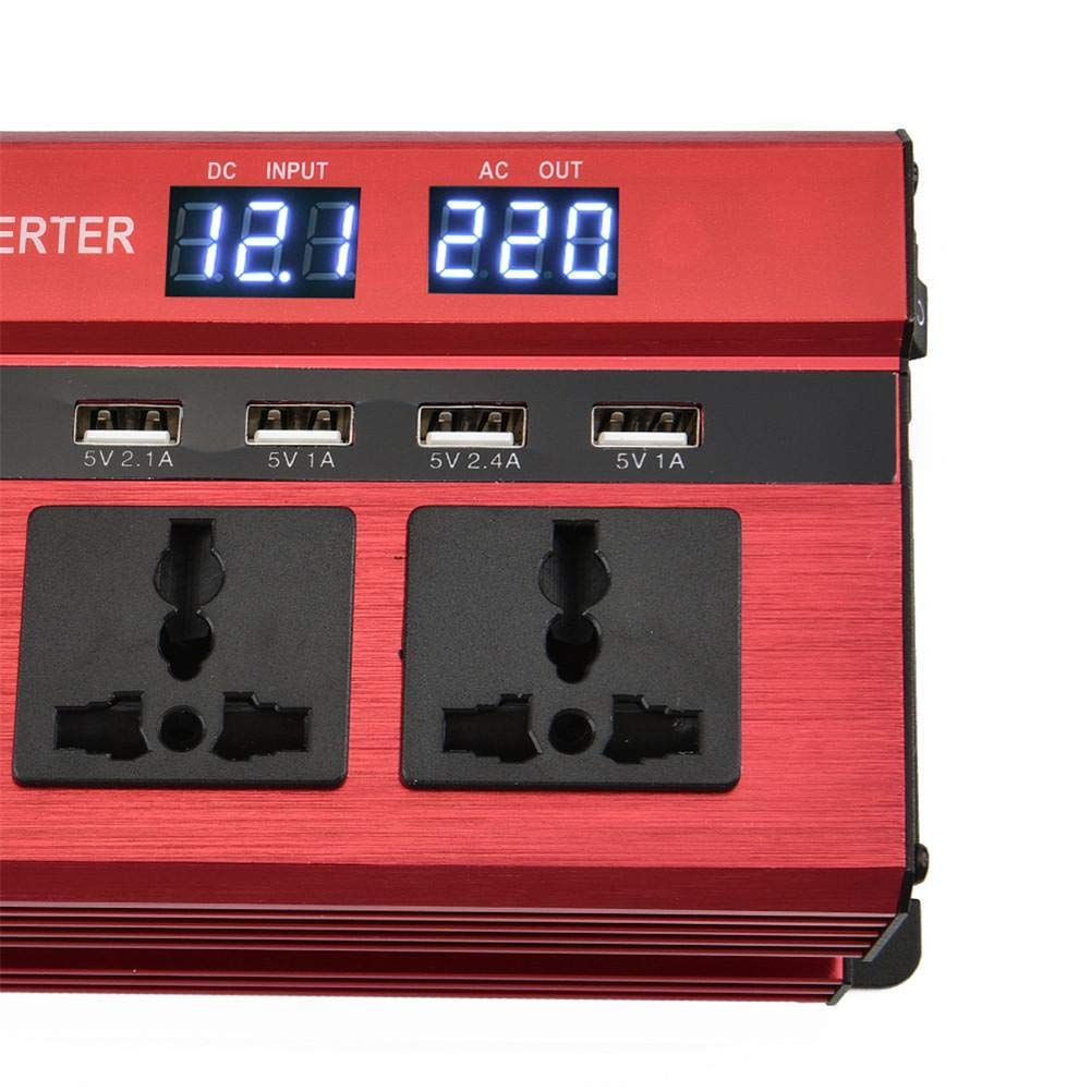 AITOCO Car Power Inverter 1200/W DC 12/V bis 220/V Converter Transformer Nebulizer mit 4/USB-Ladeger/ät Dual Display modifiziert Sinus Zigarettenanz/ünder Adapter f/ür Smartphones Tablet Laptop