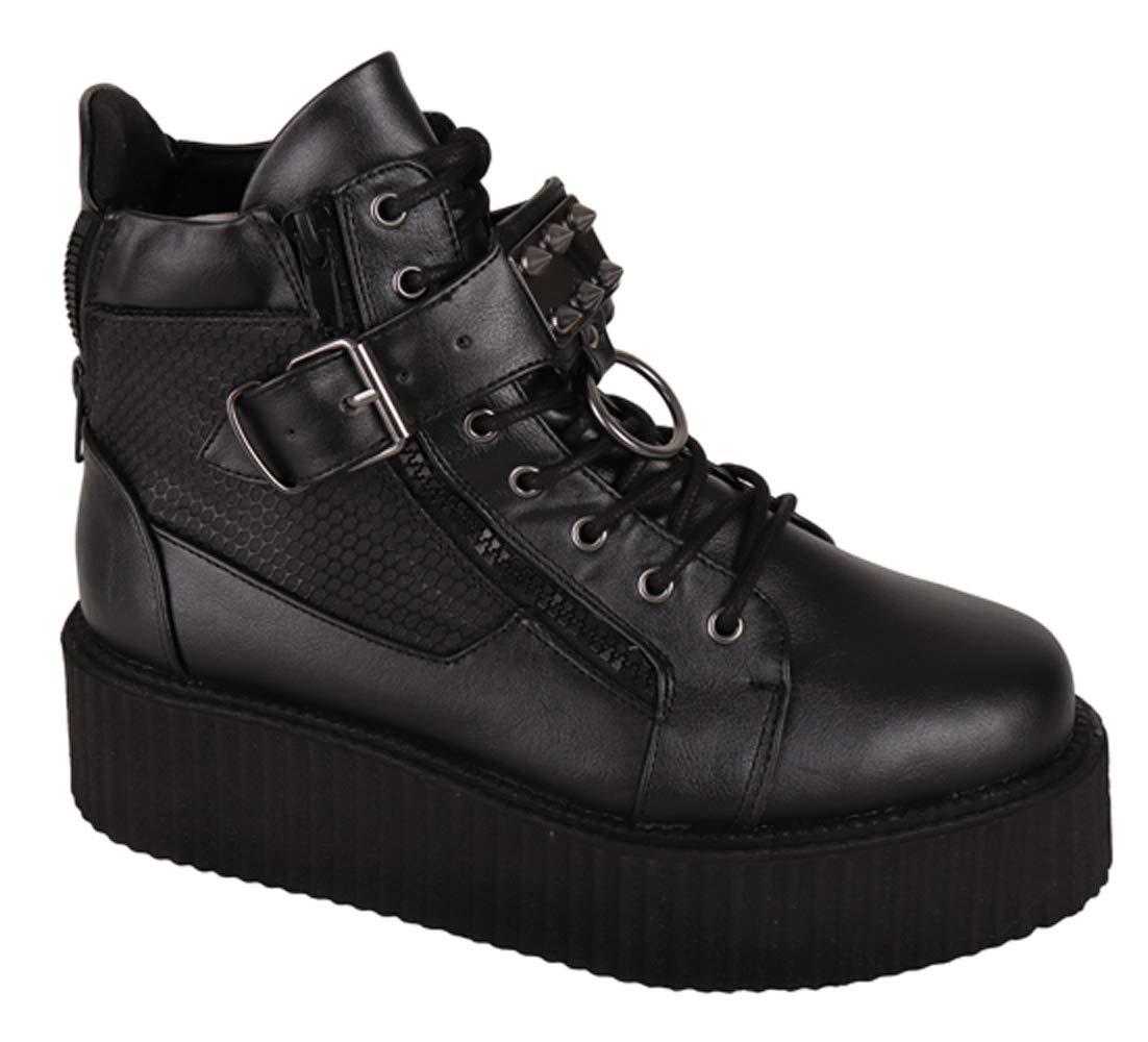 SharpSpirit Steampunk Streetwear Military Combat High Top Platform Mens Boots 5