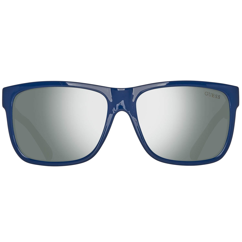 Guess Lunettes de soleil carr/és en bleu brillant GU6838 90Q 57