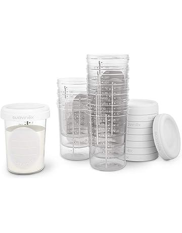 Suavinex tarritos almacenaje leche materna 10 unidades, pueden meterse en el Congelador, Autoportantes,