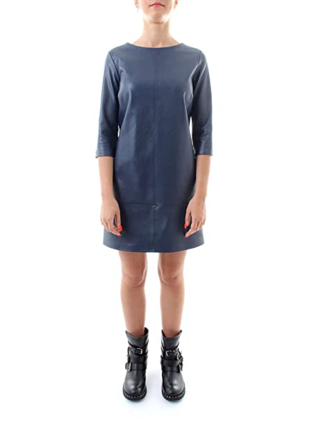 246391b21968 MANILA GRACE Mini Abito in Ecopelle Nero Fabia  Amazon.it  Abbigliamento