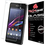 TECHGEAR® Sony Xperia Z1 Compact GLASS Edition Genuine Tempered Glass Screen Protector Guard Cover (Model: D5503)