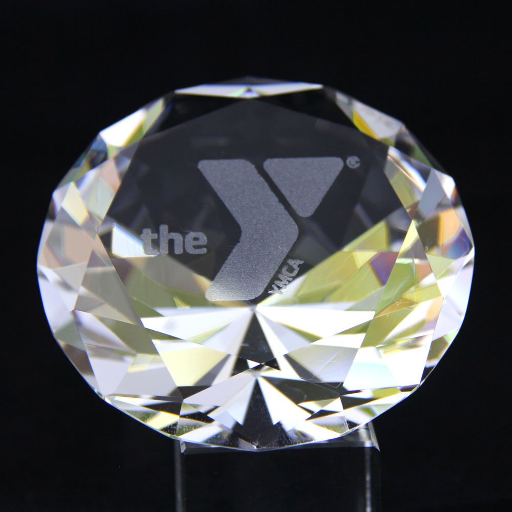 Custom Engraved Crystal Diamonds Award