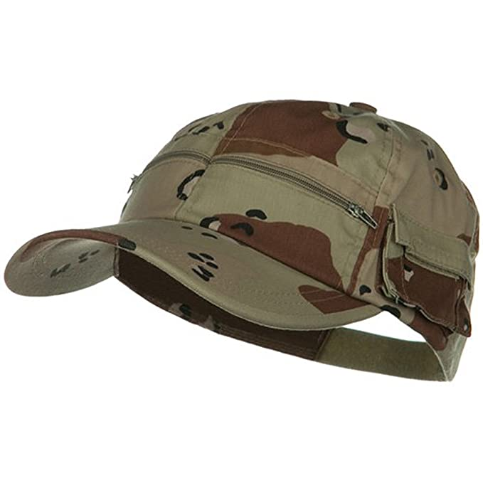 2a2d9cc42d2 e4Hats.com Casual Style Camo Washed Pocket Cap - Desert at Amazon Men s  Clothing store