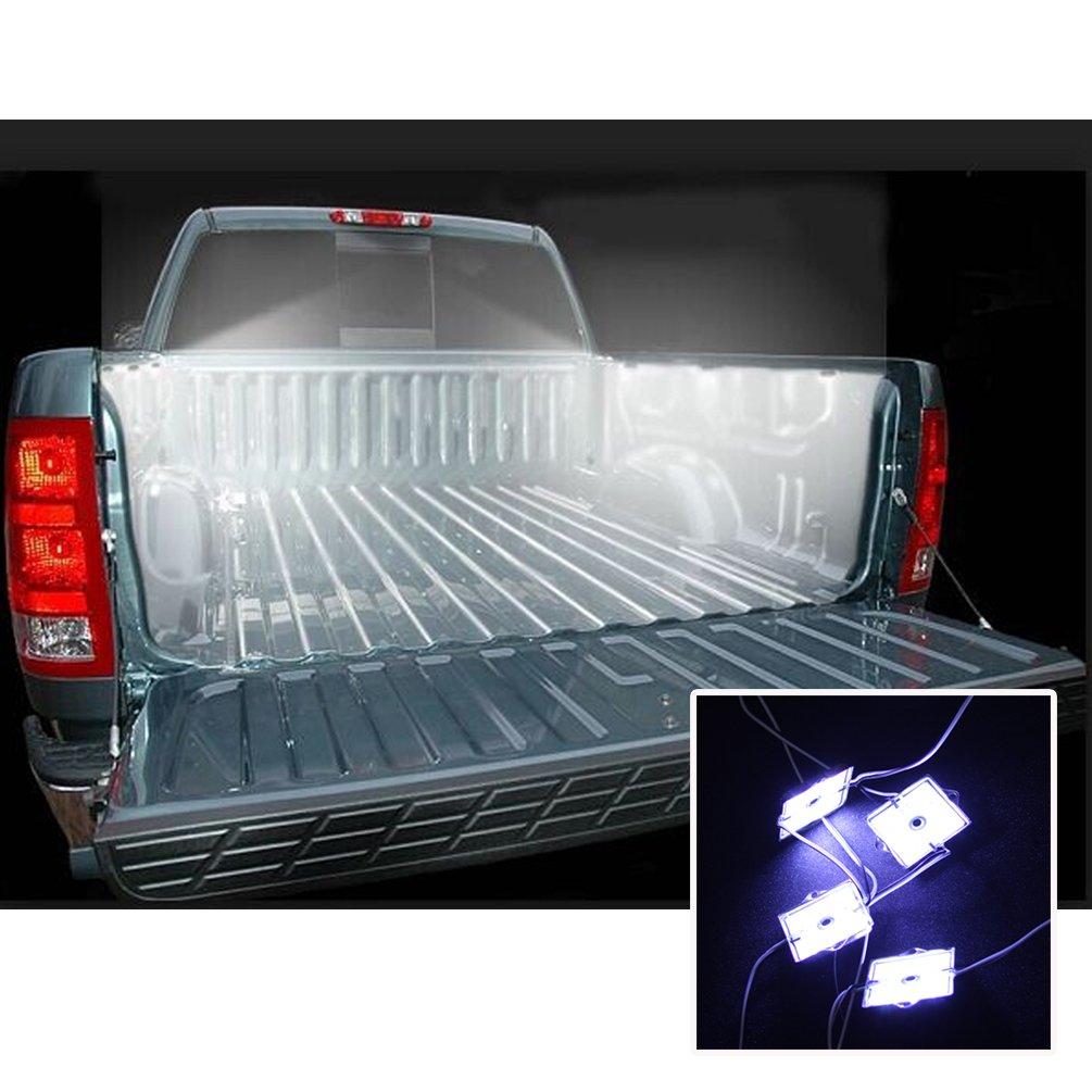 amazoncom led truck bed rail light kit for dodge ram bed lighting kit automotive