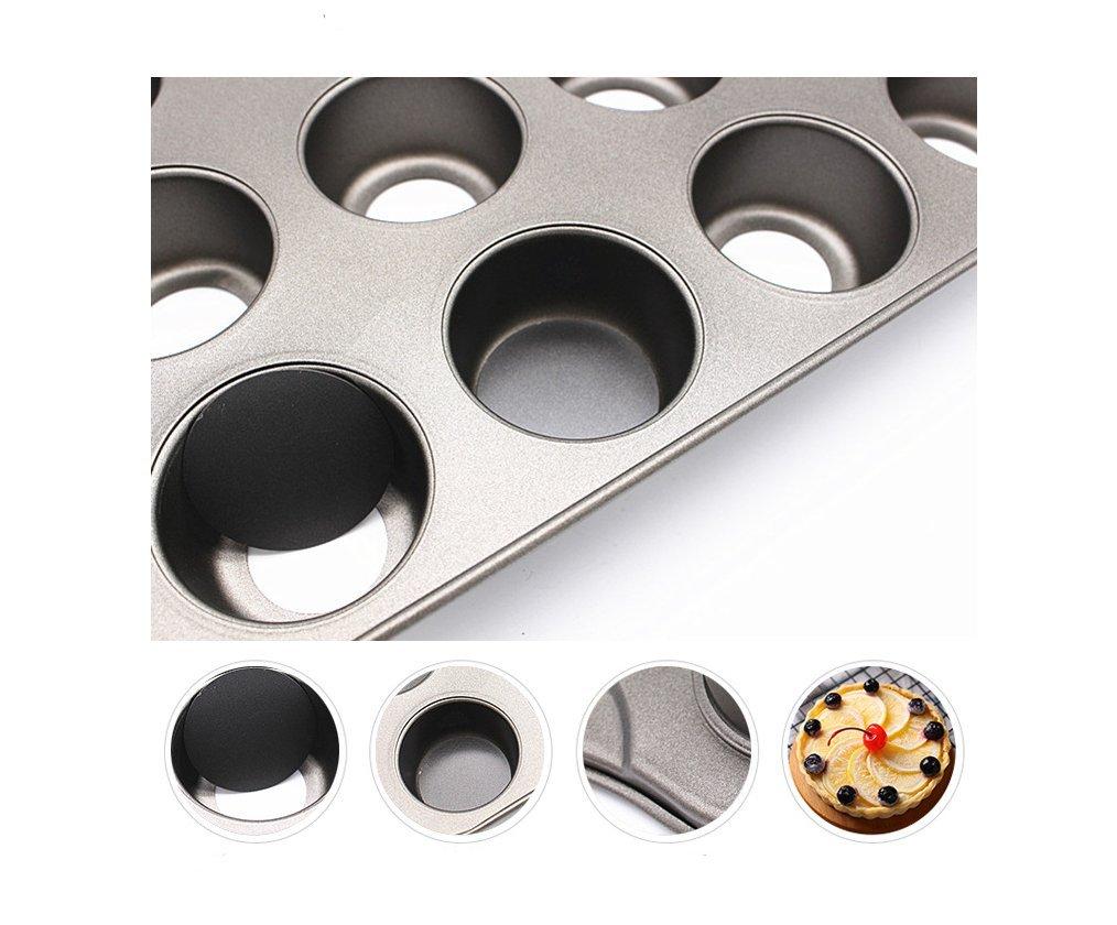 12 vasos mini Cheesecake pan, molde desmontable para repostería (28 cm), diseño de bosque: Amazon.es: Hogar