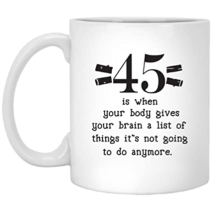 45th Birthday Gifts For Women Men Sixty Years Old Gift Happy Funny 45