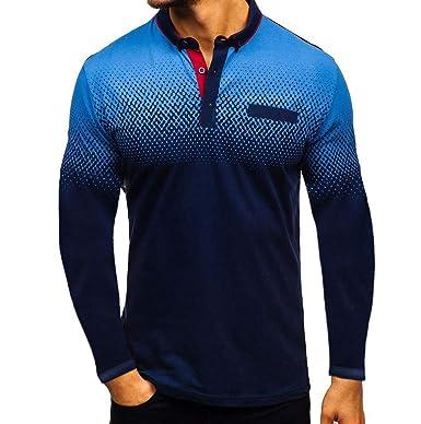 new concept 6a4c7 7fcd3 ZHANSANFM Poloshirt Herren Revers T-Shirt Aufdruck Polohemd Shirt Mit  Polokragen Kurzarm Top Freizeit Fitness Sweatshirt Tops