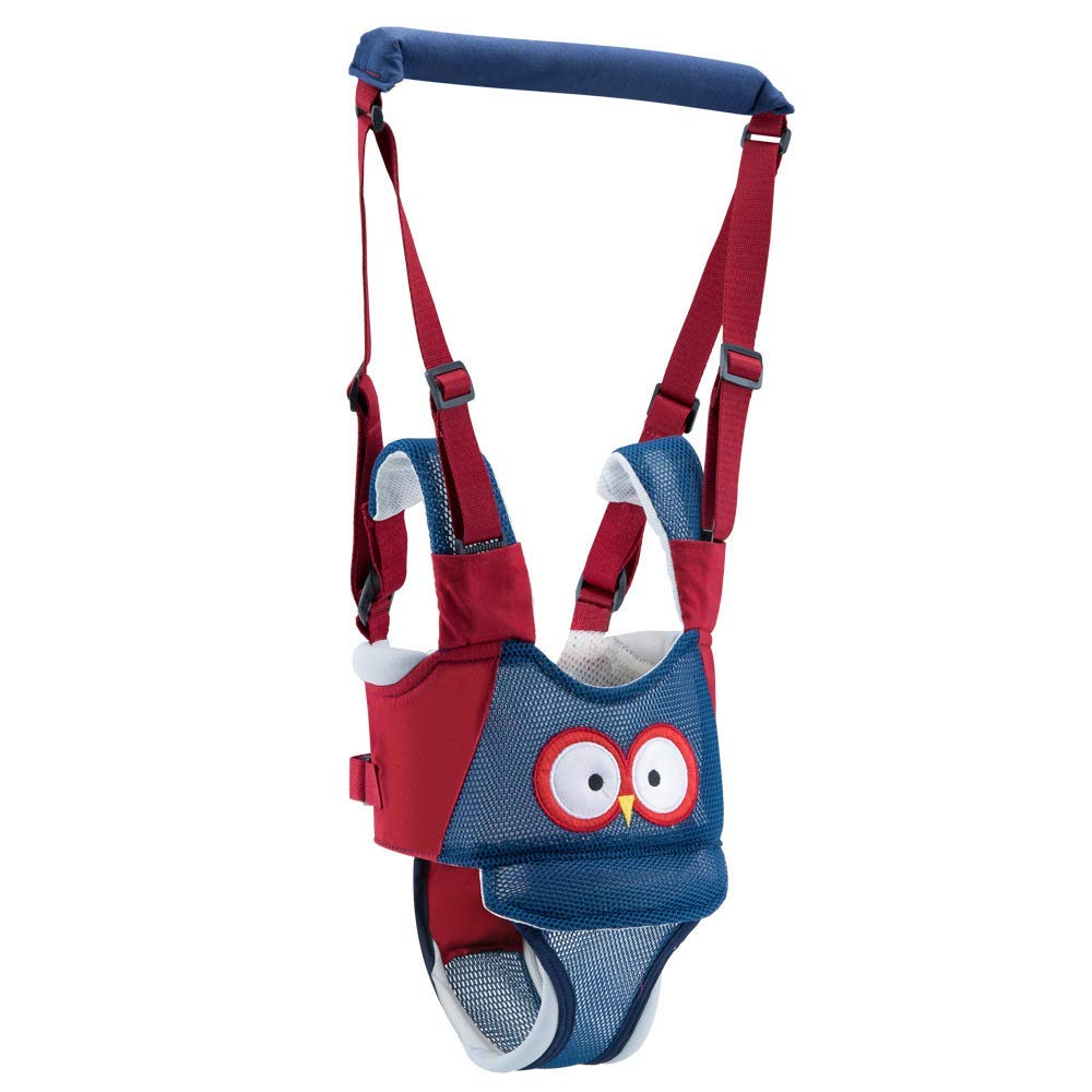 Baby Walking Harness, Adjustable Handheld Baby Walking Assistant, Safe Stand and Walk Learning Helper, Multi-Function Detachable Breathable Walker for 8-24 Month Baby(Blue)