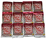 You Love Fruit Premium Organic Fruit Snacks Passion Fruit Punch Pack of 12