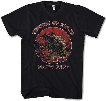 Monkey Print Camiseta Hombre Kaiju Terror Godzilla Japón: Amazon.es: Ropa y accesorios