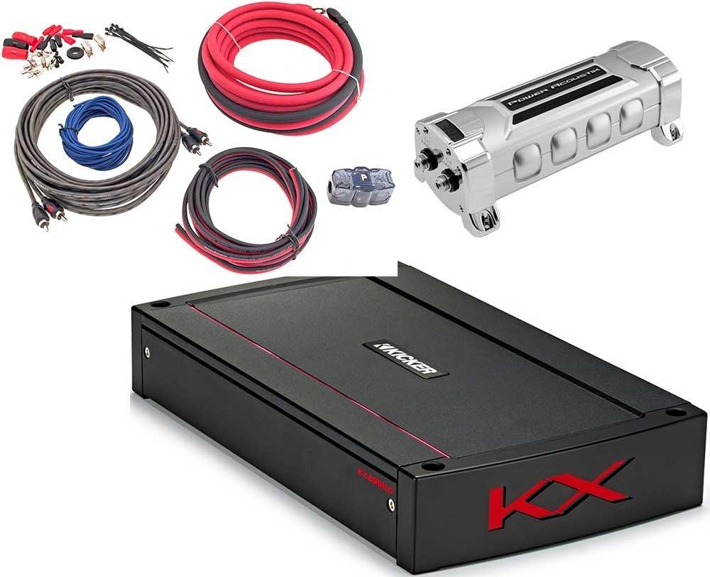 3項目のバンドル:キッカー44 kxa800.5 KXシリーズ5-channel車アンプW /電源Acoustik ak-4 4ゲージ完全キット+ pcx-3 F 3 Fデジタルコンデンサ B07BDNC12S