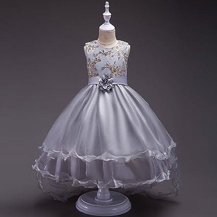 GHTWJJ Vestidos De Noche De Niña Vestido De Princesa De La Boda Vestido De Niña Vestido