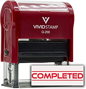 Completed Office Self-Inking Office Rubber Stamp (Red) - Medium