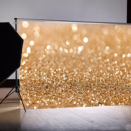 Grade AAAAA Photography Backdrops Yellow Glitter Bright Dots Backdrop for ChildrenNewbornBabyWeddingHoliday partyBirthday PartyFamily decoration Photo Background