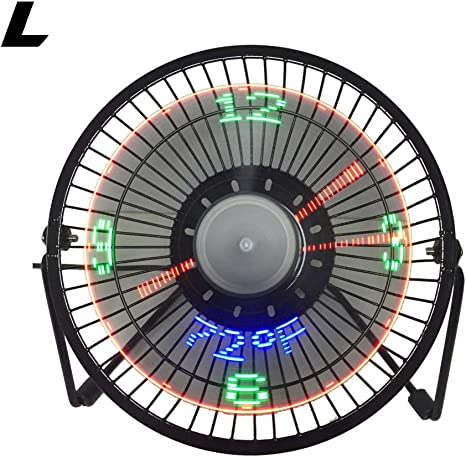 Mini Portable USB Silent Desk Fan Desktop USB Cooling Fan with Clock Temperature