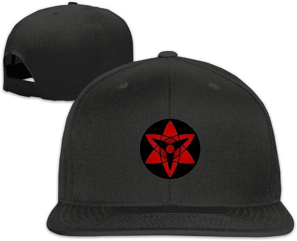 VOLTE Manngekyou Sharingan Eyes Japanese Comic Naruto Shippuden Flat Bill Snapback Adjustable Baseball Cap Hat Natural