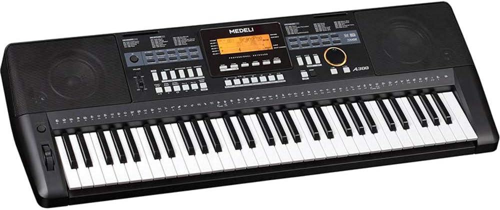 Medeli A300 teclado 61 teclas Negro: Amazon.es: Instrumentos ...