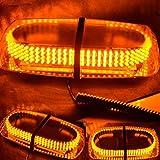 Fmail(TM) Amber Vehicle Car Truck Emergency Hazard Warning 240 LED Mini Bar Strobe Flash Light